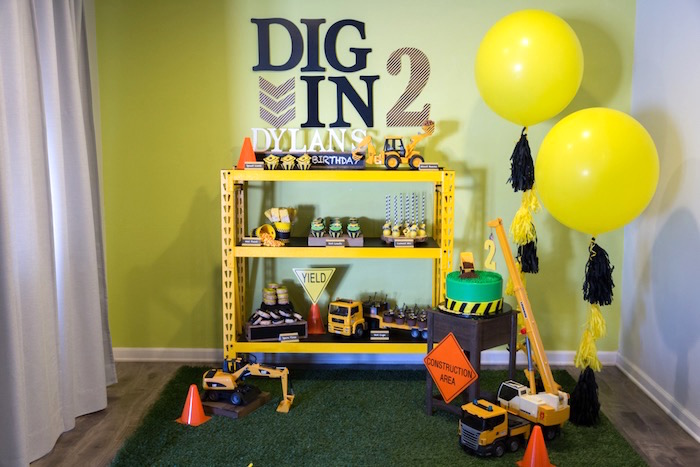 Construction 2nd Birthday Party on Kara's Party Ideas | KarasPartyIdeas.com (19)
