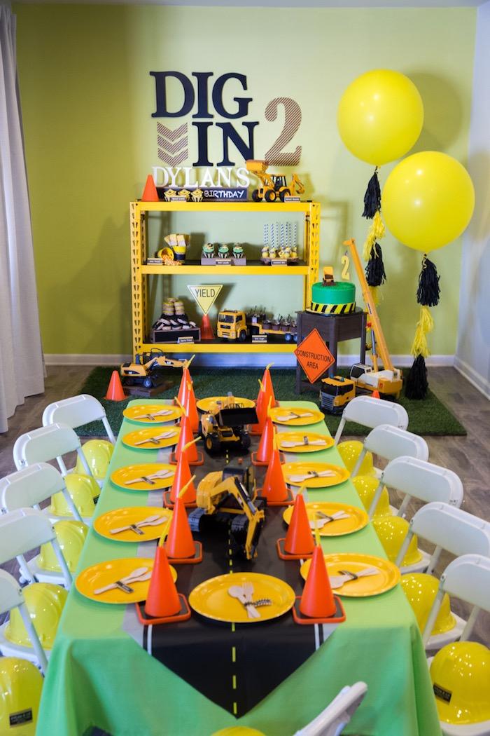 Construction 2nd Birthday Party on Kara's Party Ideas | KarasPartyIdeas.com (5)