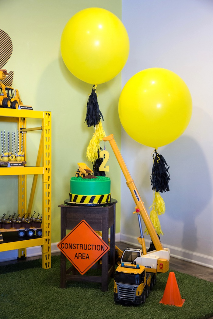 Kara S Party Ideas Construction 2nd Birthday Party Kara