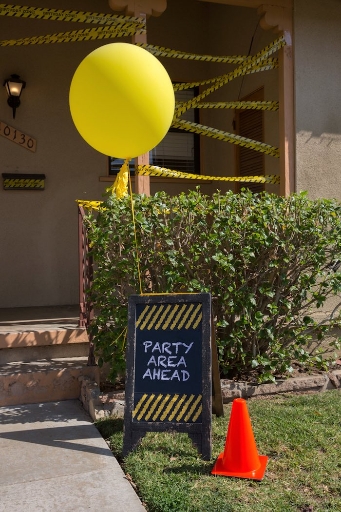 Construction 2nd Birthday Party on Kara's Party Ideas | KarasPartyIdeas.com (2)