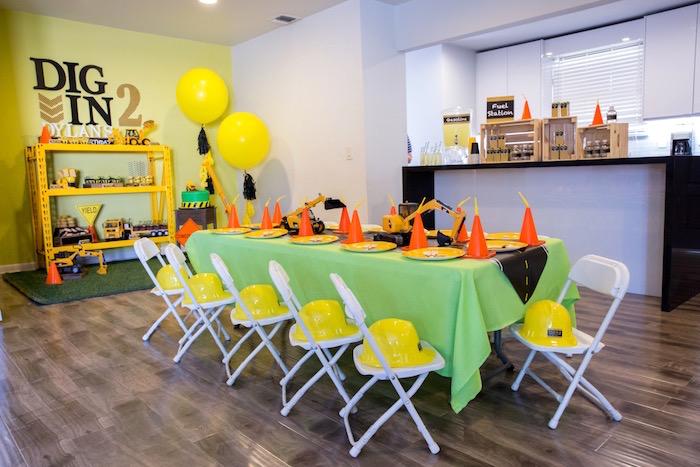 Construction 2nd Birthday Party on Kara's Party Ideas | KarasPartyIdeas.com (26)