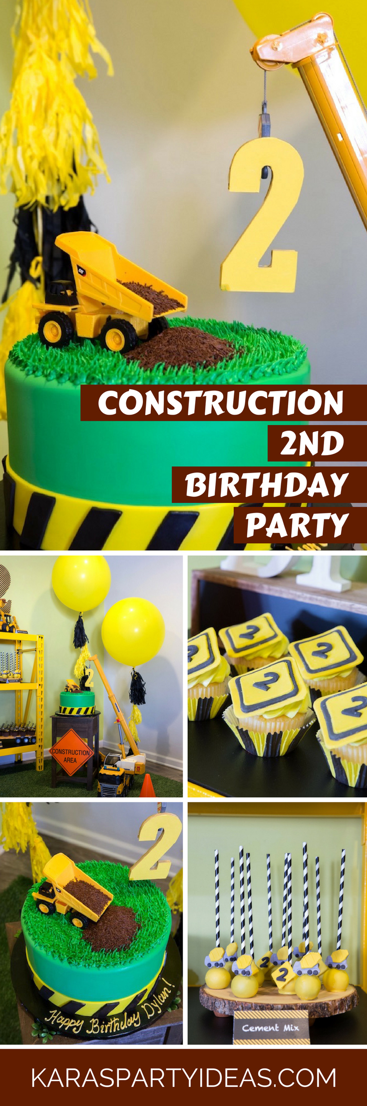 Construction 2nd Birthday Party via Kara's Party Ideas - KarasPartyIdeas.com