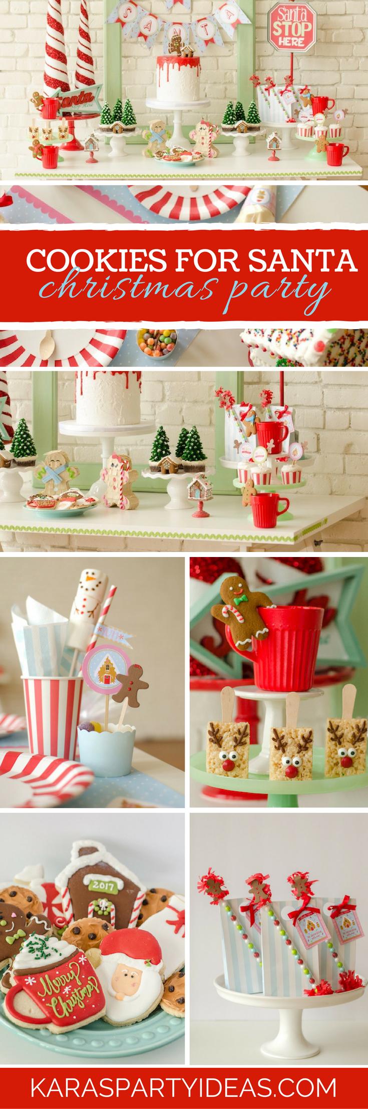 Cookies for Santa Christmas Party via Kara's Party Ideas - KarasPartyIdeas.com