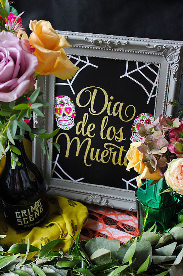 Signage from a Day of the Dead Halloween Party on Kara's Party Ideas | KarasPartyIdeas.com (9)