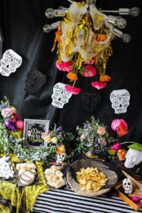 Day of the Dead Party Table from a Day of the Dead Halloween Party on Kara's Party Ideas | KarasPartyIdeas.com (16)