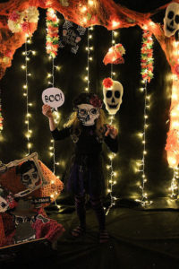 Photo BOOth from a Day of the Dead Halloween Party on Kara's Party Ideas | KarasPartyIdeas.com (15)