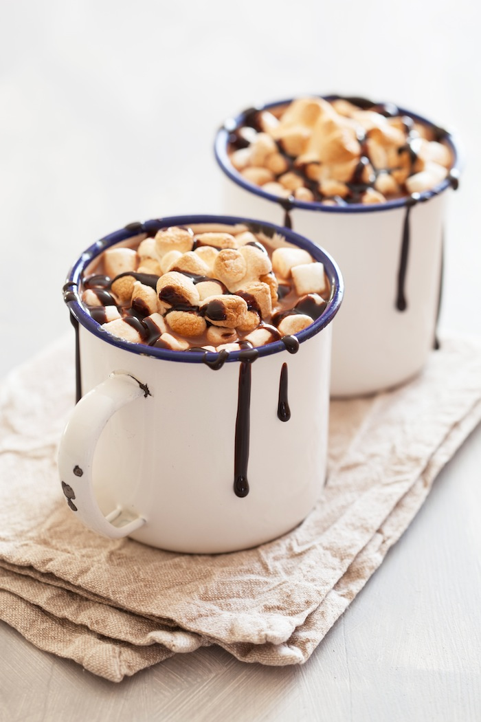 Easy S'mores Hot Chocolate | Cocoa Recipe via Kara's Party Ideas! Perfect for Christmas and the Holidays!