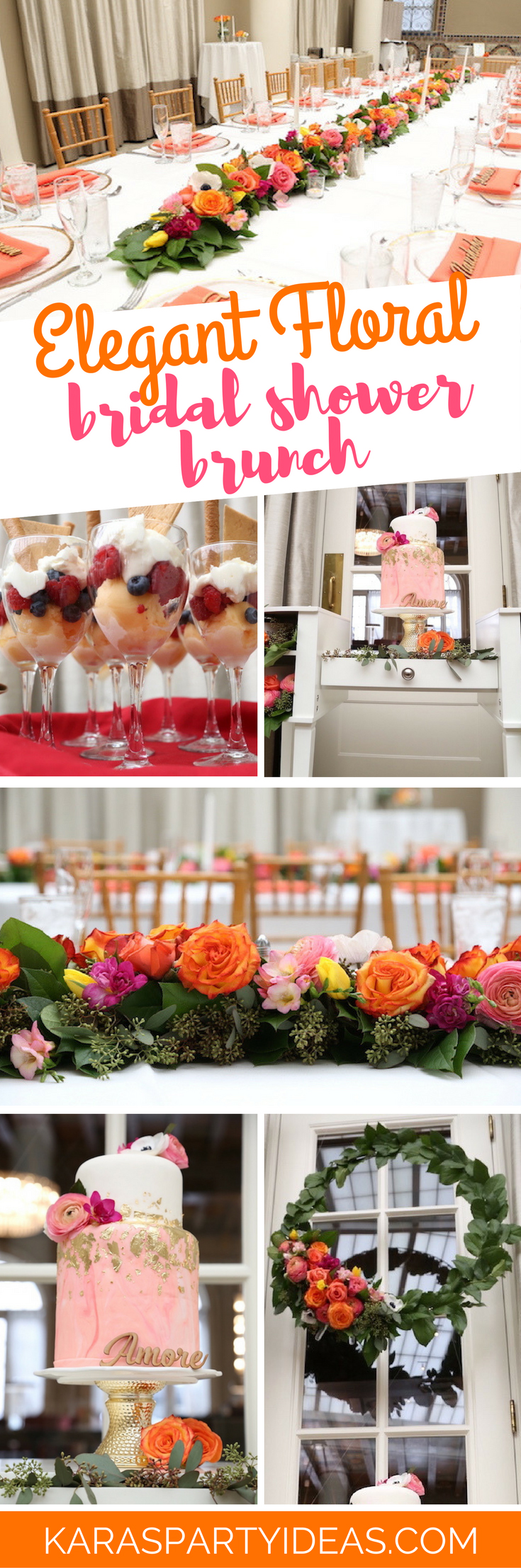 Elegant Floral Bridal Shower Brunch via Kara's Party Ideas - KarasPartyIdeas.com (1)