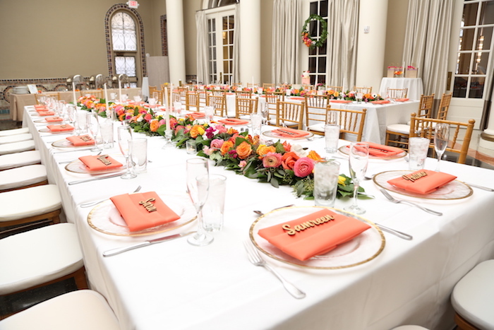 guest table from an elegant floral bridal shower brunch on karas party ideas karaspartyideas