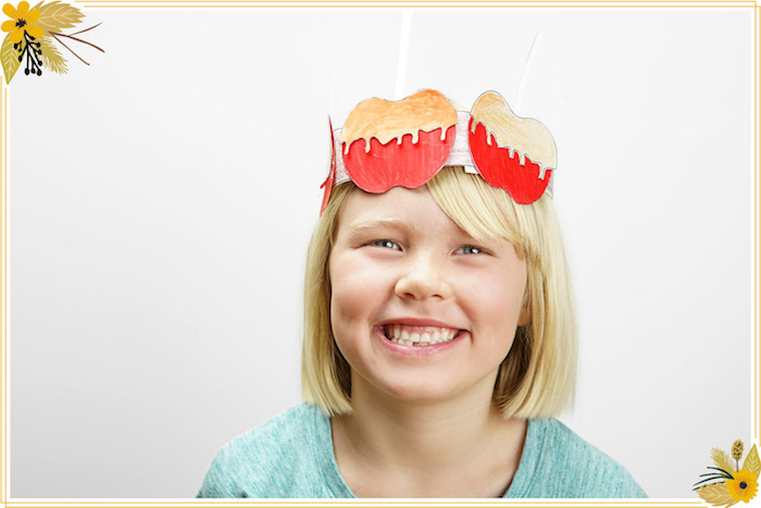 Caramel Apple Hat from a FREE Thanksgiving Hat Printable Crafts on Kara's Party Ideas | KarasPartyIdeas.com (9)