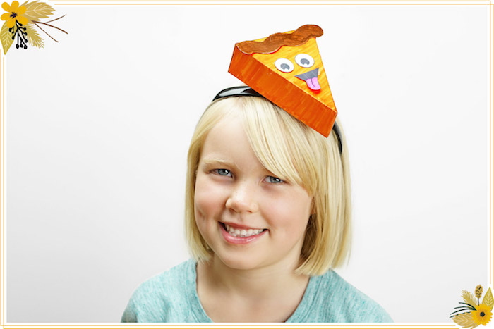 Pumpkin Pie Hat from a FREE Thanksgiving Hat Printable Crafts on Kara's Party Ideas   KarasPartyIdeas.com (8)