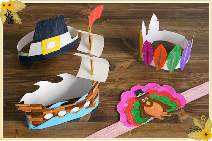 FREE Thanksgiving Hat Printable Crafts on Kara's Party Ideas | KarasPartyIdeas.com (6)