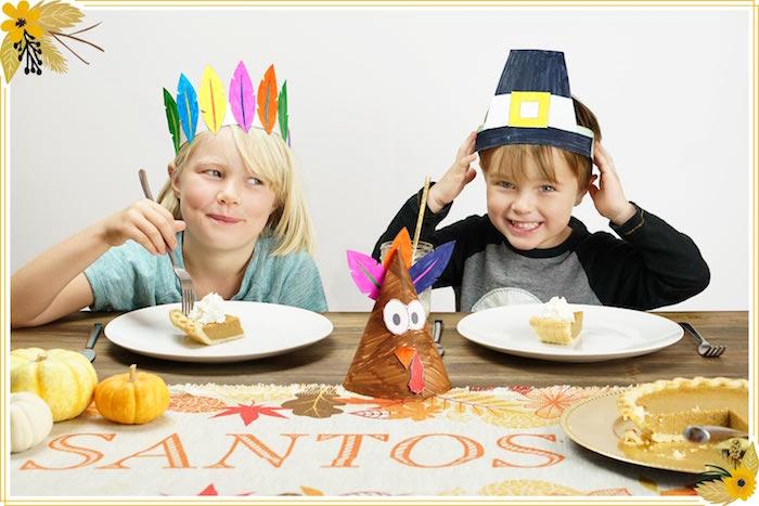 FREE Thanksgiving Hat Printable Crafts on Kara's Party Ideas   KarasPartyIdeas.com (4)