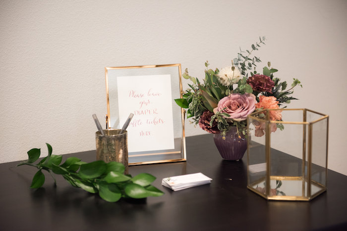 Party table from a Fall Boho Chic Baby Shower on Kara's Party Ideas | KarasPartyIdeas.com (19)