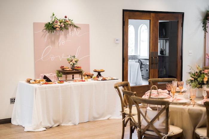 Charcutrie table from a Fall Boho Chic Baby Shower on Kara's Party Ideas | KarasPartyIdeas.com (13)