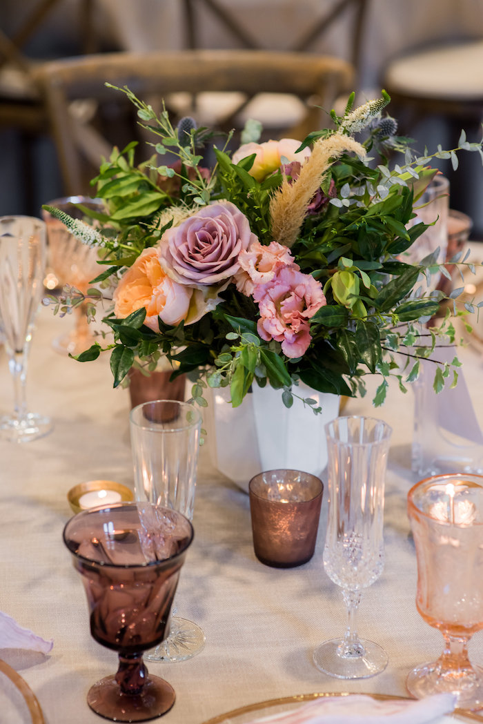 Floral arrangement from a Fall Boho Chic Baby Shower on Kara's Party Ideas | KarasPartyIdeas.com (35)