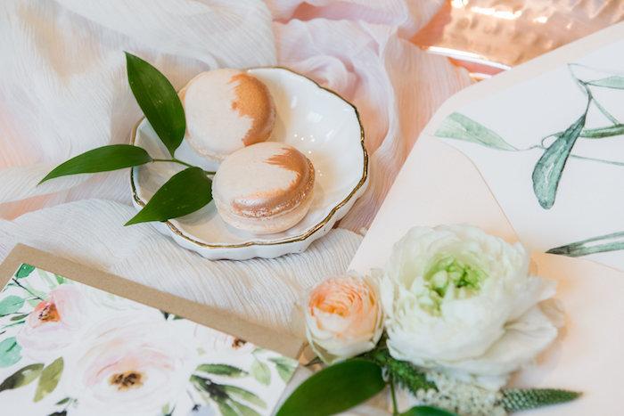 Macarons from a Fall Boho Chic Baby Shower on Kara's Party Ideas | KarasPartyIdeas.com (4)