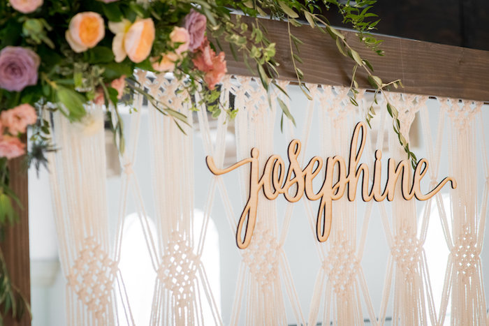 Script sign from a Fall Boho Chic Baby Shower on Kara's Party Ideas | KarasPartyIdeas.com (29)