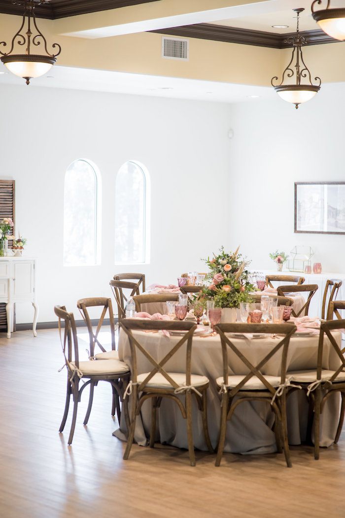 Guest table from a Fall Boho Chic Baby Shower on Kara's Party Ideas | KarasPartyIdeas.com (28)