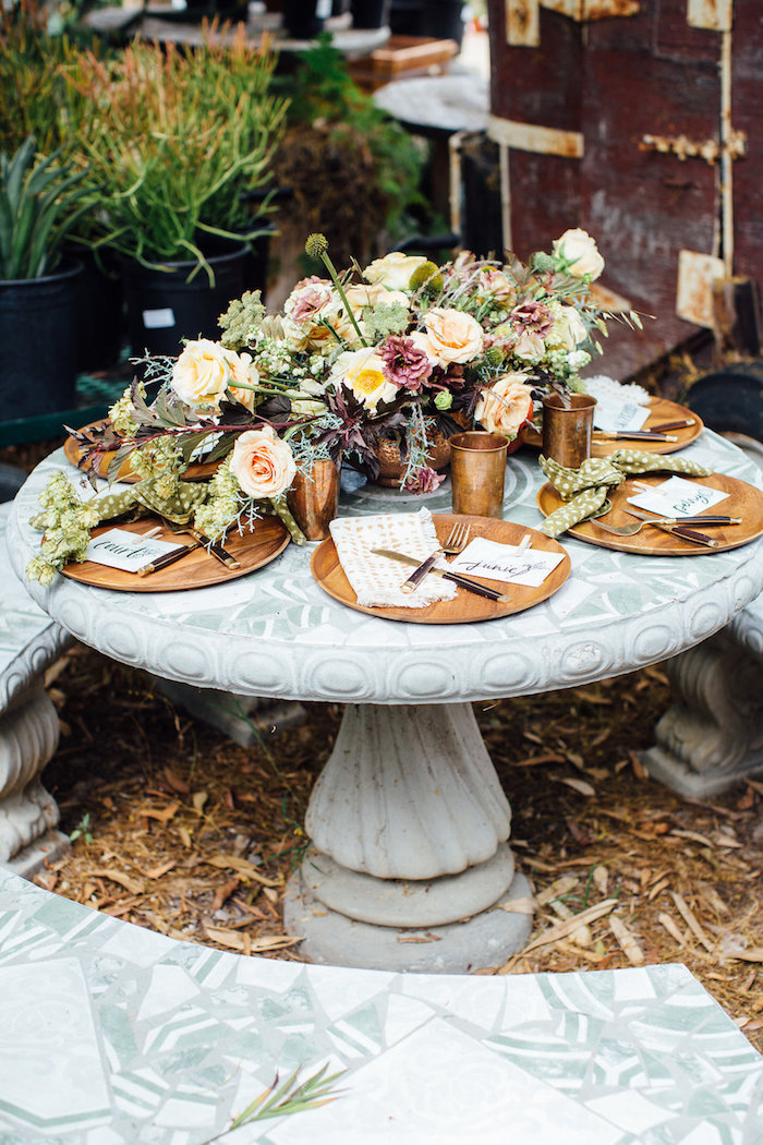 Garden guest table from a Fall Planting Party on Kara's Party Ideas | KarasPartyIdeas.com (32)