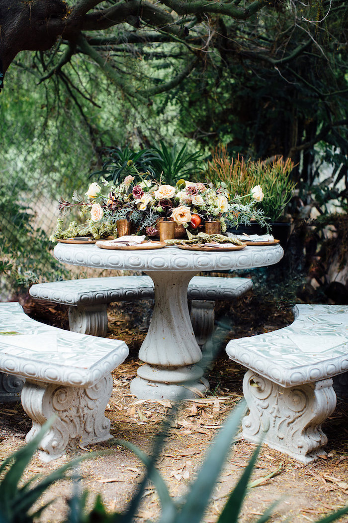 Garden guest table from a Fall Planting Party on Kara's Party Ideas | KarasPartyIdeas.com (31)