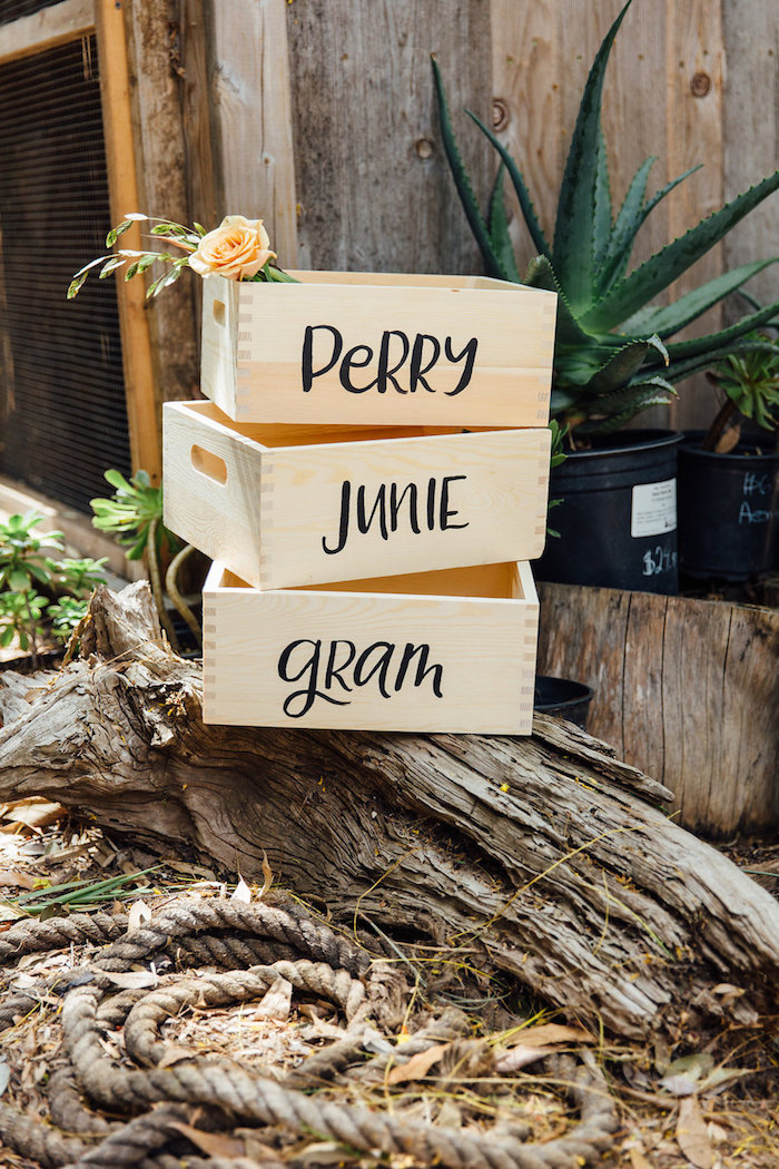 Personalized plant crates from a Fall Planting Party on Kara's Party Ideas | KarasPartyIdeas.com (22)