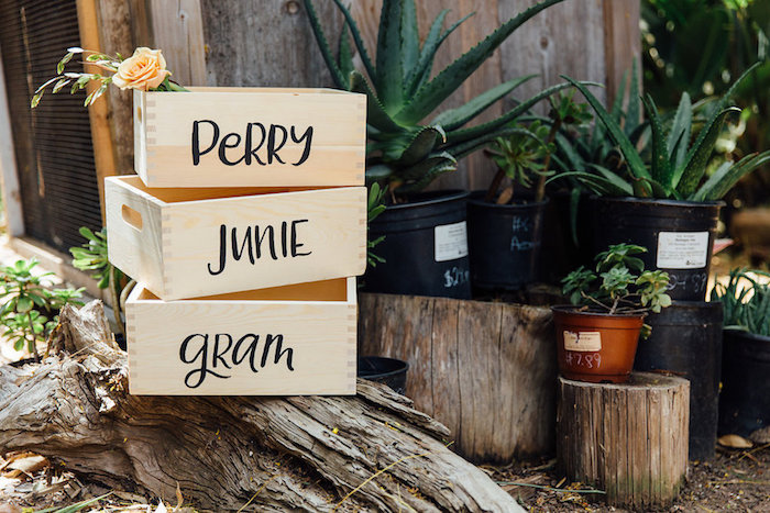 Crates & plants from a Fall Planting Party on Kara's Party Ideas | KarasPartyIdeas.com (21)