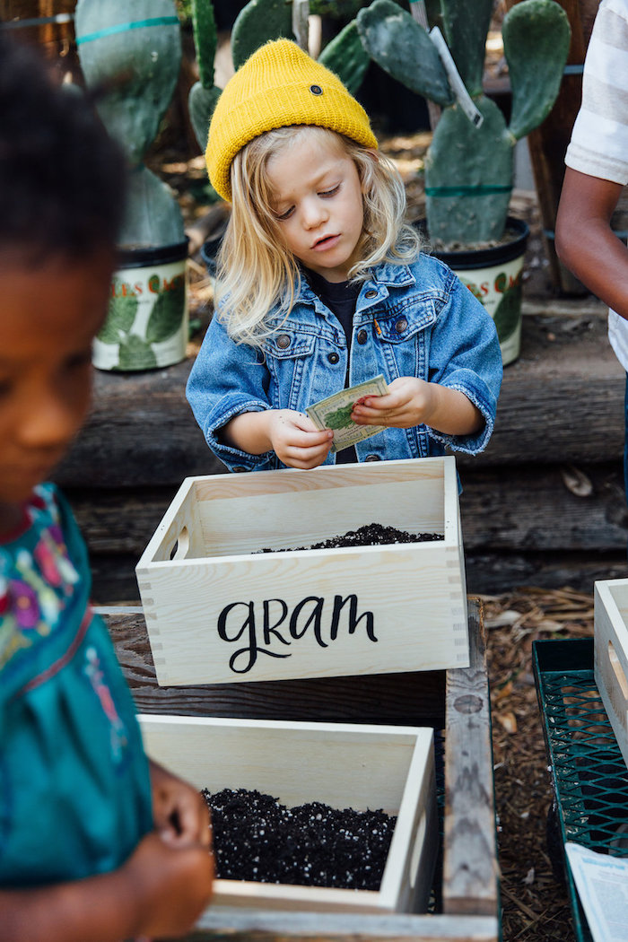 Personalized crate from a Fall Planting Party on Kara's Party Ideas | KarasPartyIdeas.com (16)