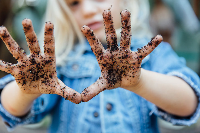 Dirty hands from a Fall Planting Party on Kara's Party Ideas | KarasPartyIdeas.com (6)