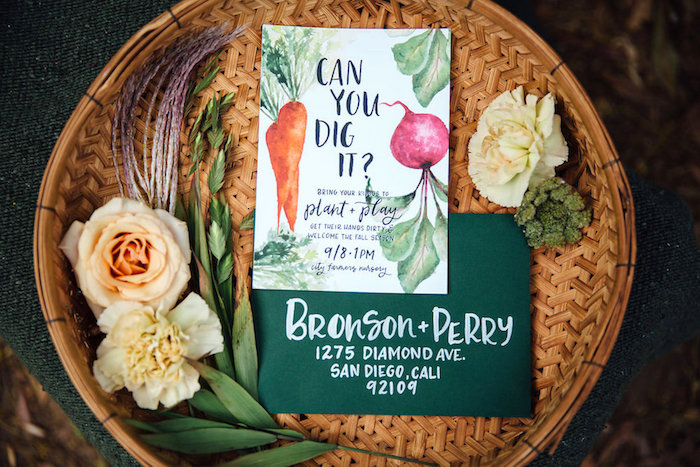 Garden Party Invite from a Fall Planting Party on Kara's Party Ideas | KarasPartyIdeas.com (39)