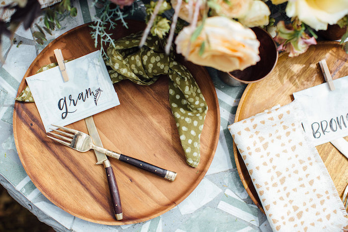 Place setting from a Fall Planting Party on Kara's Party Ideas | KarasPartyIdeas.com (37)