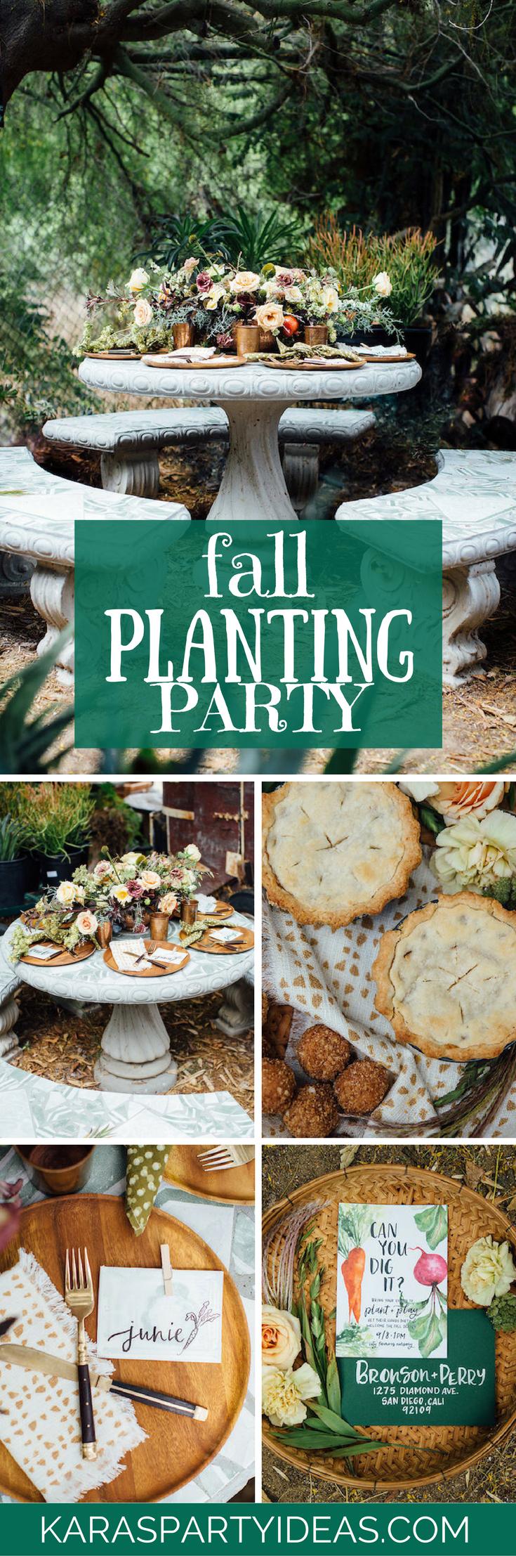 Fall Planting Party via Kara's Party Ideas - KarasPartyIdeas.com