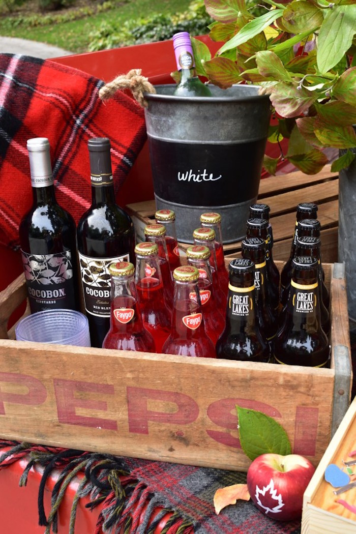 Drink bottles from a Fall Tailgate Party on Kara's Party Ideas | KarasPartyIdeas.com (21)
