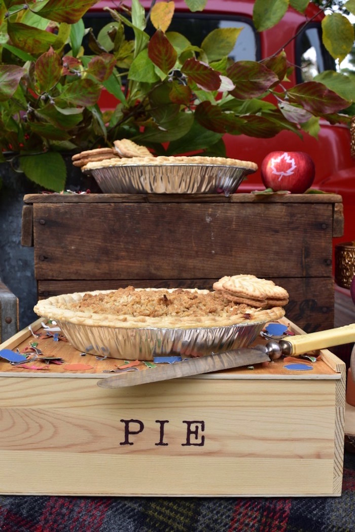 Wood crate pie platters from a Fall Tailgate Party on Kara's Party Ideas | KarasPartyIdeas.com (20)