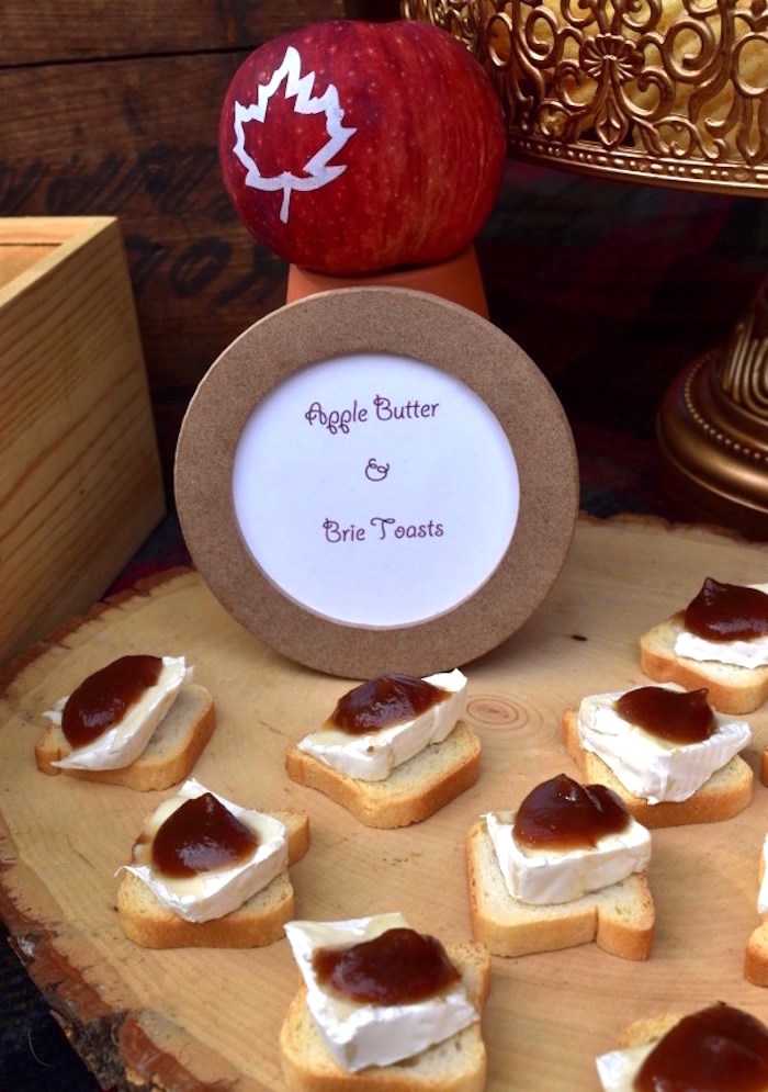 Apple Butter & Brie Toast from a Fall Tailgate Party on Kara's Party Ideas | KarasPartyIdeas.com (19)