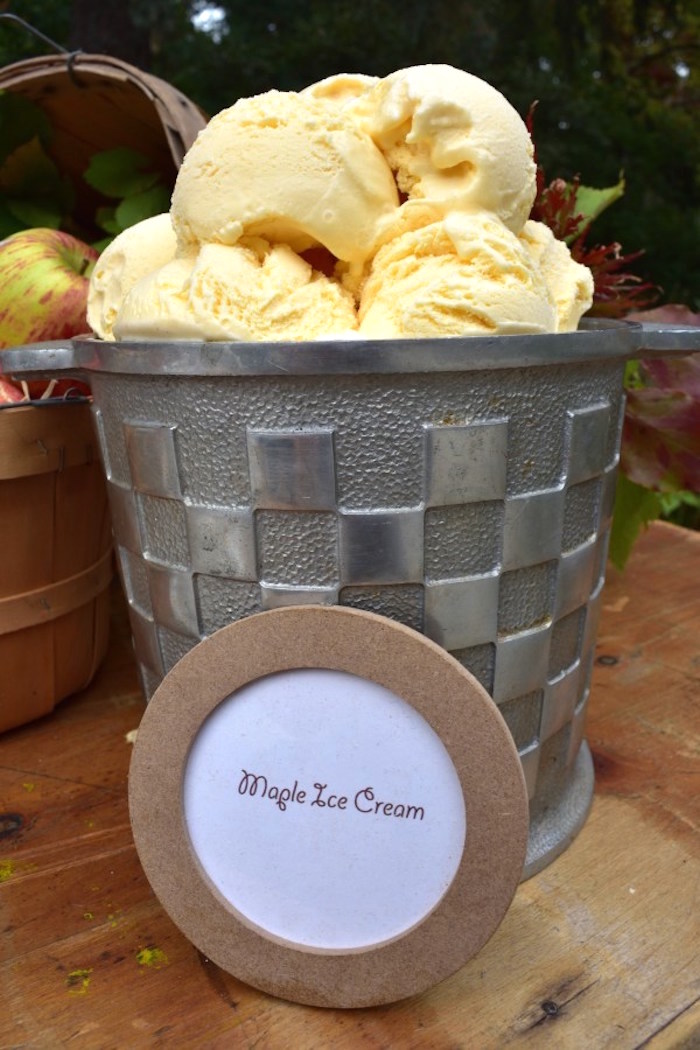 Maple Ice Cream from a Fall Tailgate Party on Kara's Party Ideas | KarasPartyIdeas.com (9)
