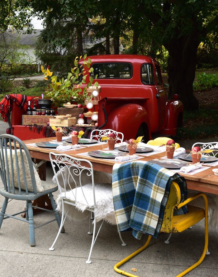 Guest table from a Fall Tailgate Party on Kara's Party Ideas | KarasPartyIdeas.com (29)