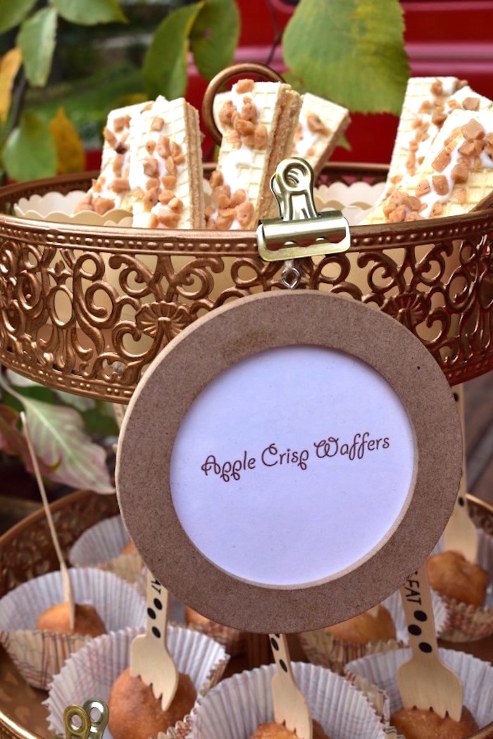 Apple Crisp Wafers from a Fall Tailgate Party on Kara's Party Ideas | KarasPartyIdeas.com (24)