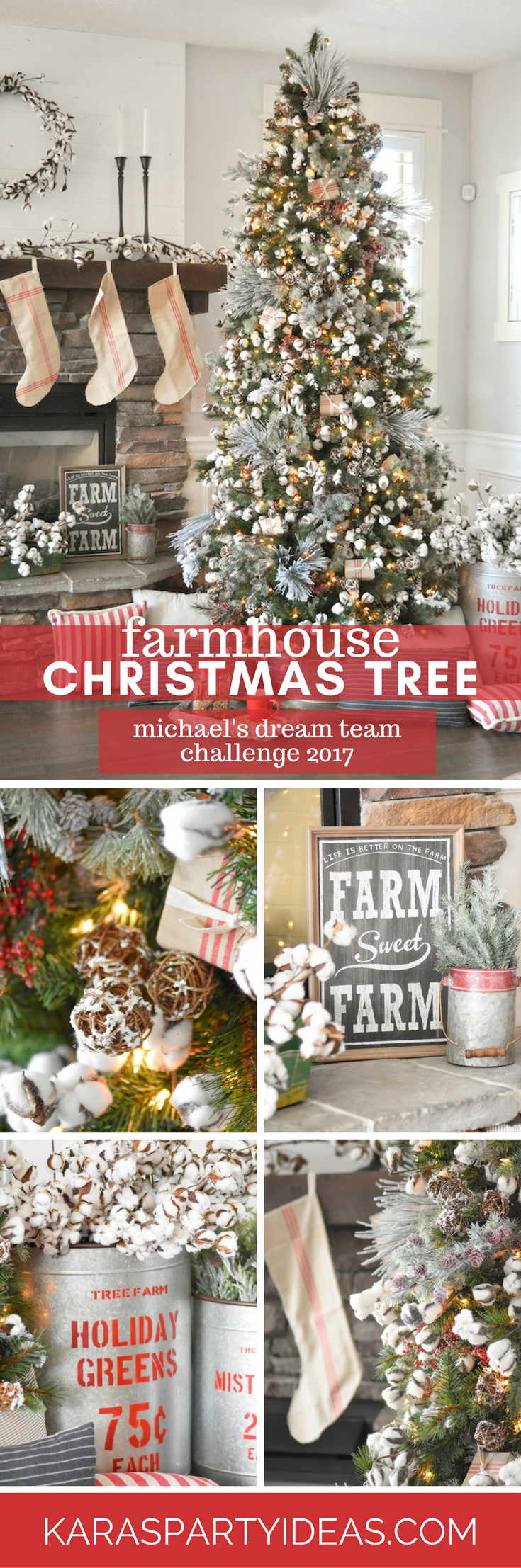 farmhouse christmas tree by karas party ideas karaspartyideascom - Christmas Tree Michaels