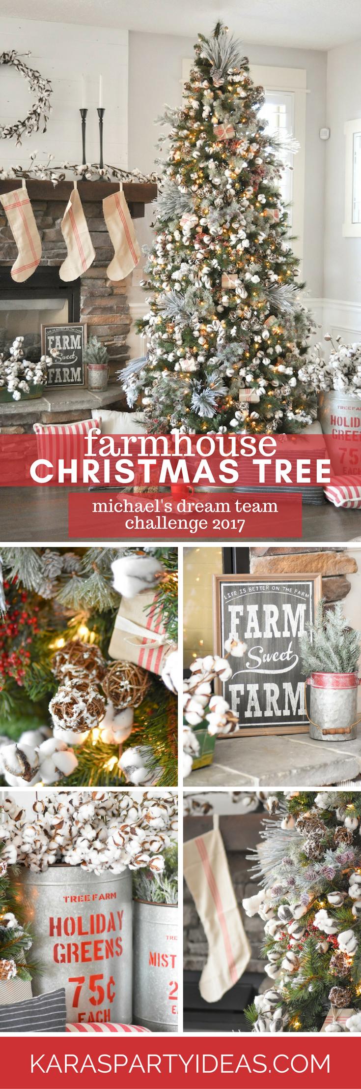 Farmhouse Christmas Tree By Karas Party Ideas
