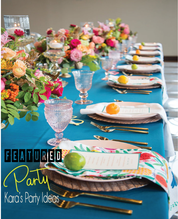 Kara's Party Ideas Featured Party of the Week: Urban Floral Baby Shower Ideas | Trending Baby Shower Party #babyshower #babyshower2017 #babyshower2018trends