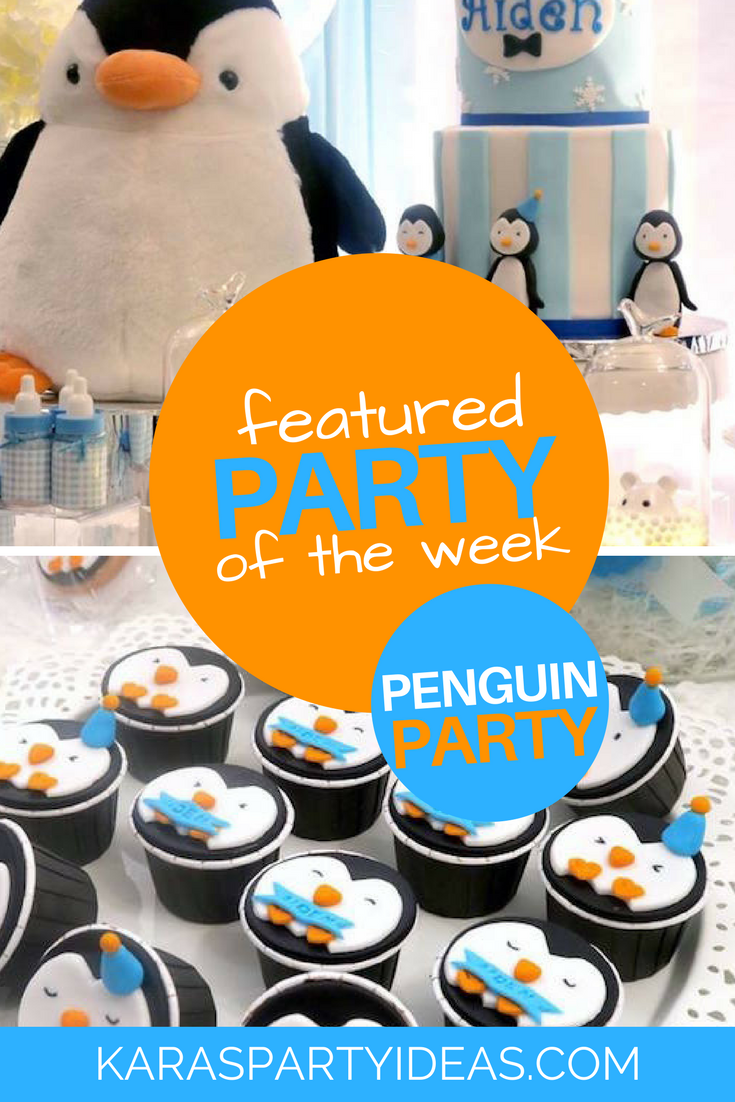 Featured Party of the Week - Penguin Party via Kara's Party Ideas - KarasPartyIdeas.com
