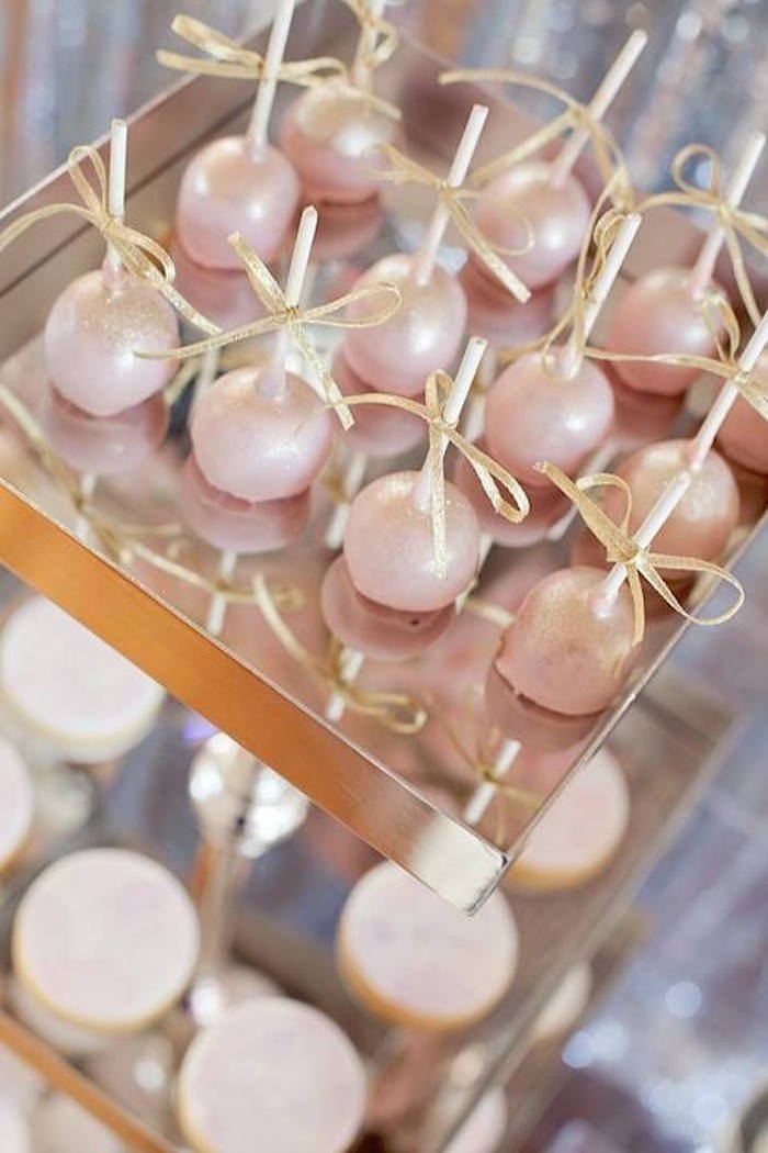 Glosses cake pops from a Floral Disco Party on Kara's Party Ideas | KarasPartyIdeas.com (23)