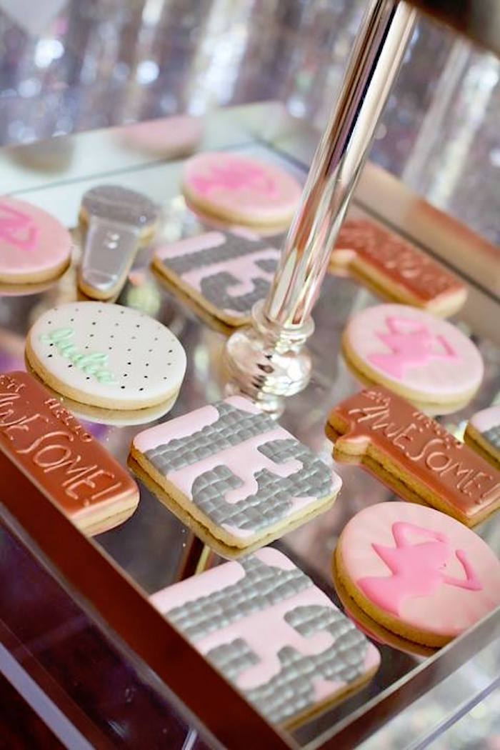 Cookies from a Floral Disco Party on Kara's Party Ideas | KarasPartyIdeas.com (20)