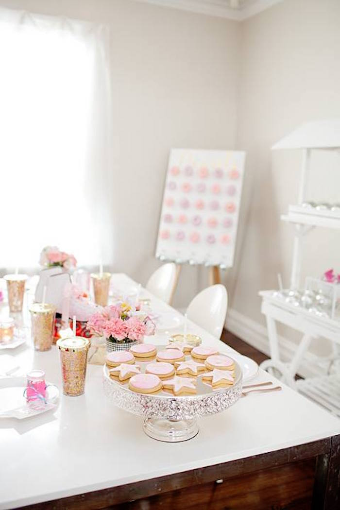 Guest table from a Floral Disco Party on Kara's Party Ideas | KarasPartyIdeas.com (37)