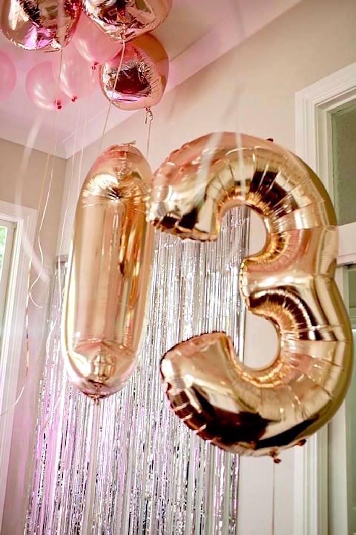 Mylar balloon numbers from a Floral Disco Party on Kara's Party Ideas | KarasPartyIdeas.com (16)