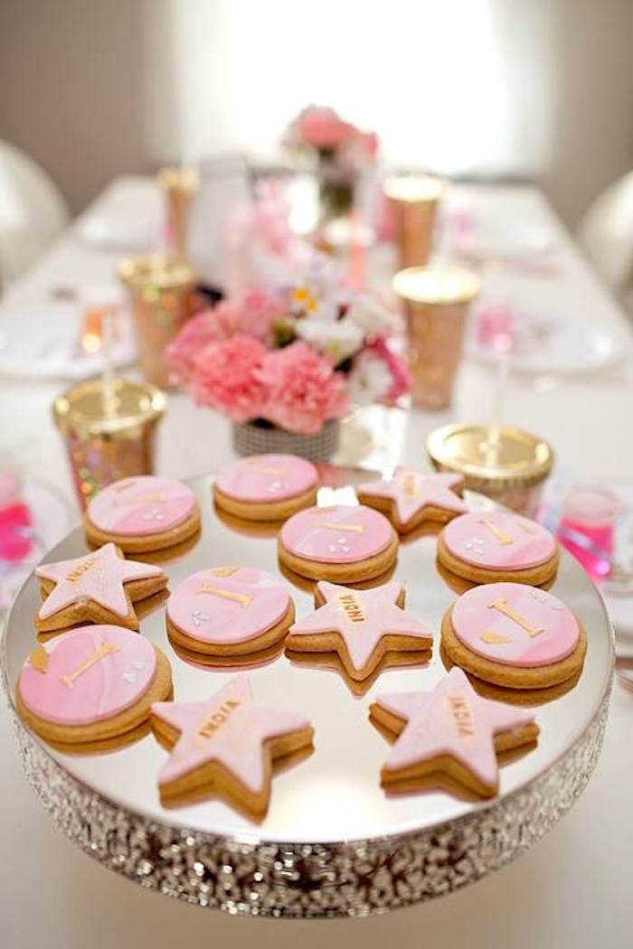 Cookies from a Floral Disco Party on Kara's Party Ideas | KarasPartyIdeas.com (35)