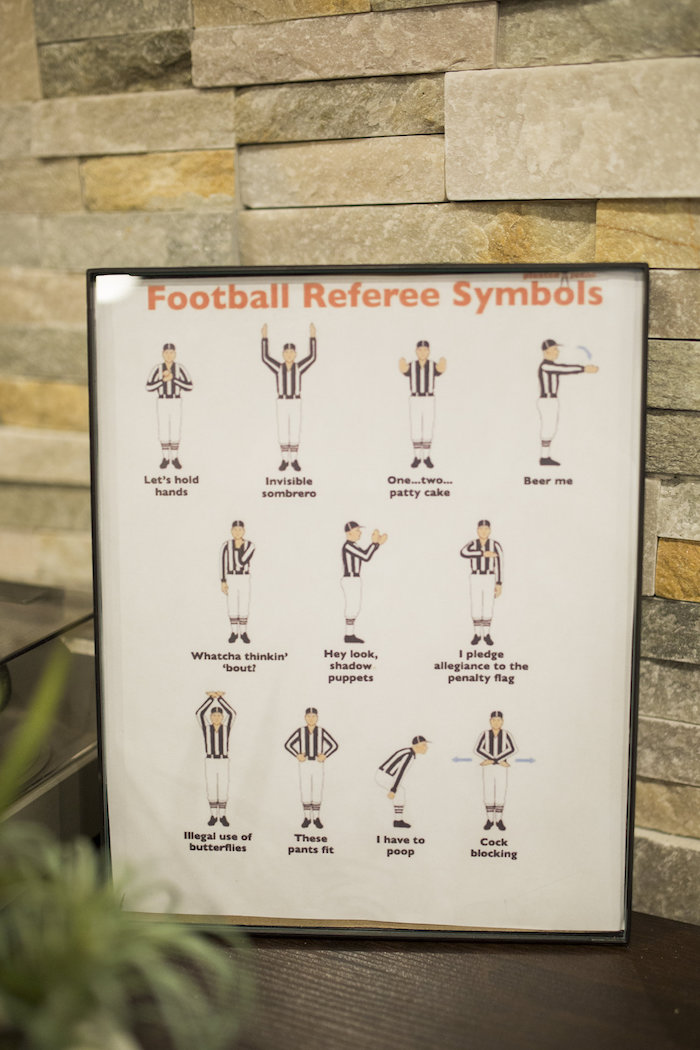 Football Referee Signage from a Football Kickoff Party on Kara's Party Ideas | KarasPartyIdeas.com (30)