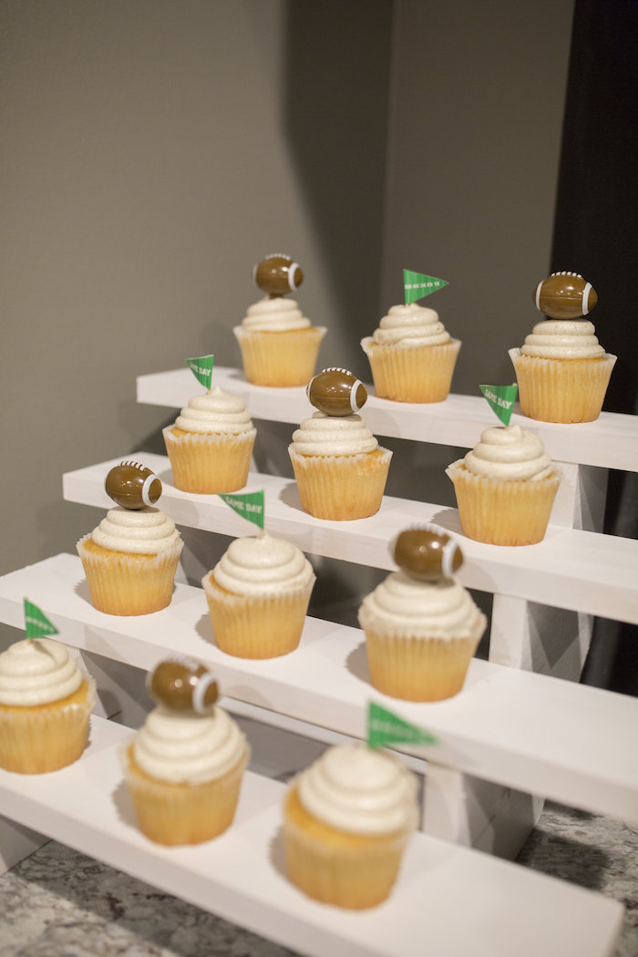 Stadium riser cupcake display from a Football Kickoff Party on Kara's Party Ideas | KarasPartyIdeas.com (27)