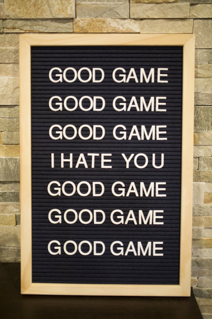 Letter board sign from a Football Kickoff Party on Kara's Party Ideas | KarasPartyIdeas.com (13)